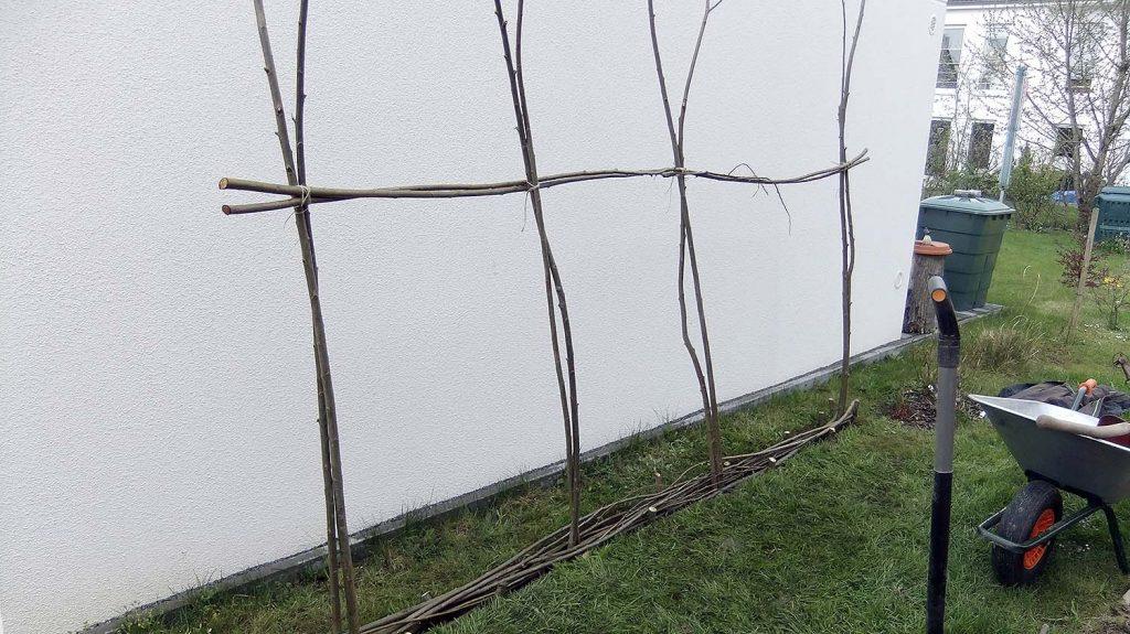 Weiden-Gerüst für den Weiden-Zaun